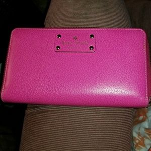 Full Size Pink Leather Kate Spade Wallet